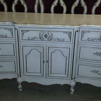 Vintage French Provincial Dresser / Buffet / TV Console by Barker Brothers