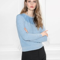 & Other Stories | Cotton Rib Knit | Blue