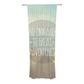 "Jillian Audrey ""Go Onward to Great Adventures"" Typography Decorative Sheer Curtain"