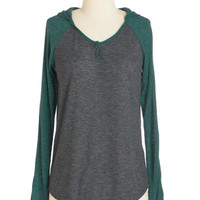 Mid-length Long Sleeve Hoodie Saunter Through Saturday Top