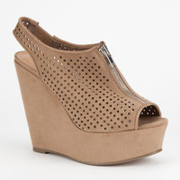 Soda Arana Womens Wedges Taupe  In Sizes
