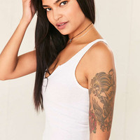 Vintage Cropped Ribbed Tank Top - Urban Outfitters