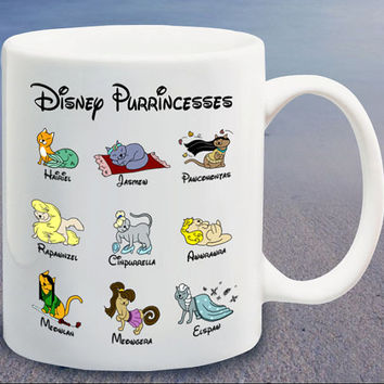 Disney Purrincesses logo custom mug,coffee mug,tea mug,cup mug