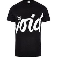 River Island MensBlack Jack & Jones Premium void t-shirt