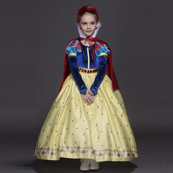 DCCKH6B New High quality Kids princess sofia dress for baby girls snow White Cosplay Costume children christmas party tutu dresses