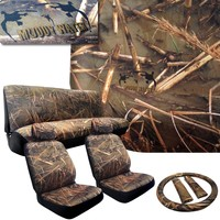 Muddy Water - Camo Seat Covers - 2 Front Seats - Rear Bench - Duck Hunting Camouflage