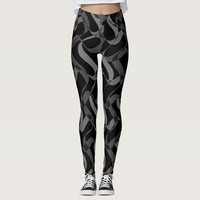 Personalize your random check square black legging