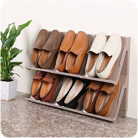 Korea Style Creative Can Be Superimposed Shoe Hanger DIY Stacking Storage Rack Thickened ABS Shoes Hanger