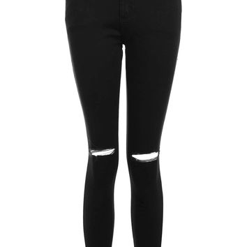 PETITE Black Rip Leigh Jeans | Topshop