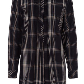 Navy Check Shirt Tunic