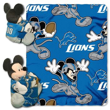 Detroit Lions NFL Mickey Mouse with Throw Combo