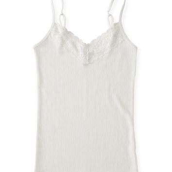 Prince & Fox Ribbed Lace V-Neck Cami -