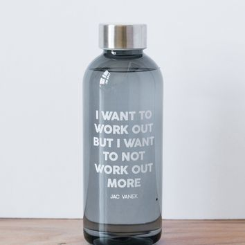 WORK OUT 20 OZ WATER BOTTLE