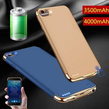 Rechargeable External Backup Battery Case for IPhone 8 Plus Power Bank Mobile Phone Charger Case Cover for IPhone 7 7 Plus 6 6s