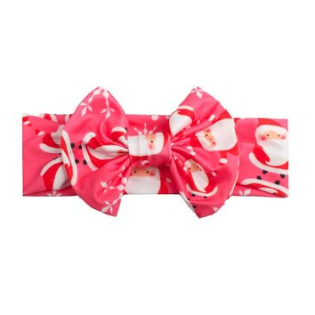 New Develop Girls Headband Christmas Milk Silk Hair Head Hairband Phtography Props crinkle hijab flor bandana scarf winter