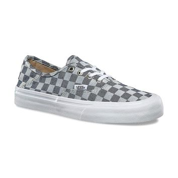 Vans Unisex Authentic SF Checkerboard Denim VN0A3MU6QBV Skate Shoes