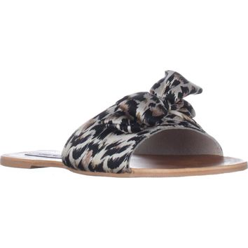 Steve Madden Alex Flat Slide Sandals, Leopard, 7 US