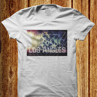 los angles shirt california t-shirt lat-shirt los angeles tee west coast hollywood cali vintage t shirt love california cool shirt hipster