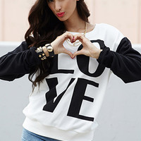 Colorblocked Love Sweatshirt