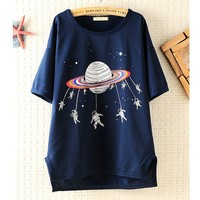 Space Shuttle Loose T-shirts