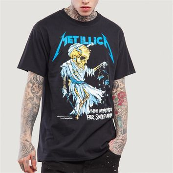 Metallica T-shirt Men Iron Maiden 2017 Heavy Metal Streetwear