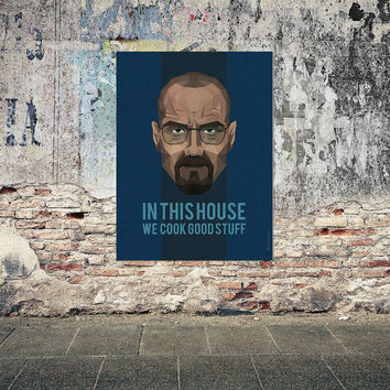 Breaking Bad Poster,  walter white, heisenberg, Breaking Bad art, kitchen poster, saul goodman