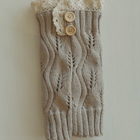 Boot Cuff- Taupe - One Size / 100% Acrylic / Taupe