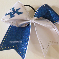 University of Kentucky Going off to College Rhinestone Large Cheer Bow Hair Bow Cheerleading