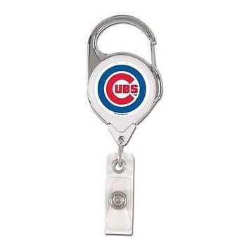 CHICAGO CUBS PREMIUM METAL RETRACTABLE ID BADGE HOLDER KEY CHAIN NEW WINCRAFT