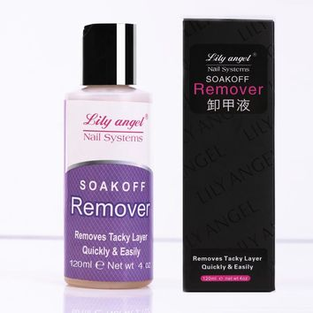 Lily angel 120ml Professional Gel soak off removes quickly&easily of Nail UV Gel polish Remover Cleanser