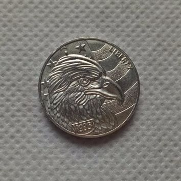 Hobo Nickel 1935 S BUFFALO NICKEL COIN HAND MADE COIN RARE EAGLE FLAG