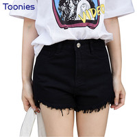 Women Jeans Summer Shorts Irregular Hem Vintage Tassel Denim Shorts Female Bottom Clothes Street Jeans Shorts for Women