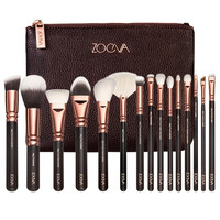 New Arrival Zoeva 15 Pcs Rose Golden Complete Makeup Brush Set