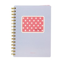 Dot Book Hardcover Compact SP Notebook - Hot Pink Dot w/ Light Purple Background