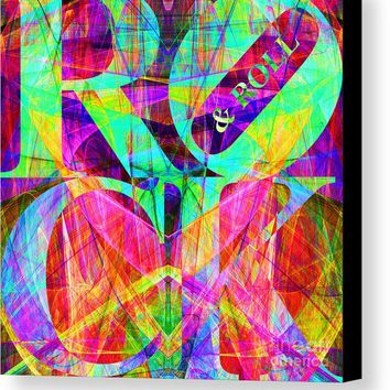 Rock And Roll 20130708 Fractal Canvas Print
