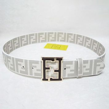 FENDI Fashion Woman Men Buckle Belt Leather Belt