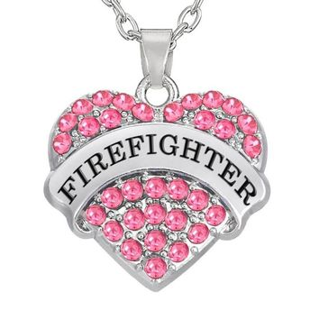 Love My Firefighter Necklace