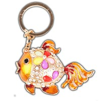 Colorful Fish Crystal Keychain