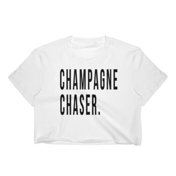 Champagne Chaser Crop T-shirt