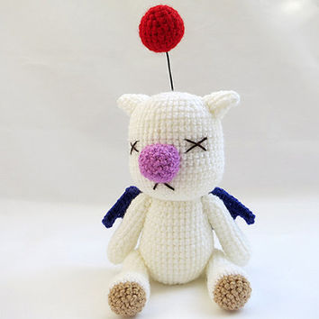 Crochet PATTERN - Amigurumi Final Fantasy X Moogle Doll