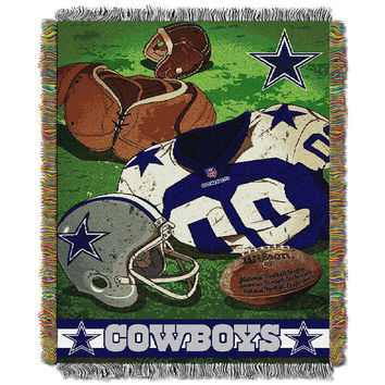 Dallas Cowboys NFL Woven Tapestry Throw (Vintage Series) (48x60)