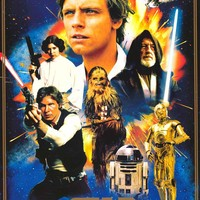 Star Wars 40th Anniversary Heroes Poster 24x36