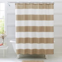 Better Homes and Gardens Porter Stripe Fabric Shower Curtain - Walmart.com