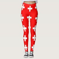 Leggings with flag of Switzerland