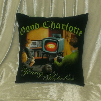 Good Charlotte the young and the hopeless pop punk pillow