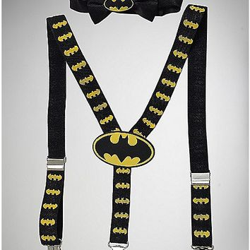 Infant Batman Bowtie Suspender Set - Spencer's