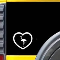 Flamingo Heart Decal Sticker *I682*