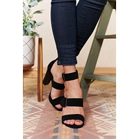 Boost Me Up Strappy Heel (Black)
