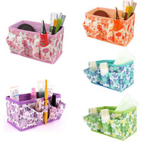 Cosmetic Storage Box - Foldable Stationary Container