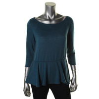 Elementz Womens Knit Peplum Pullover Sweater